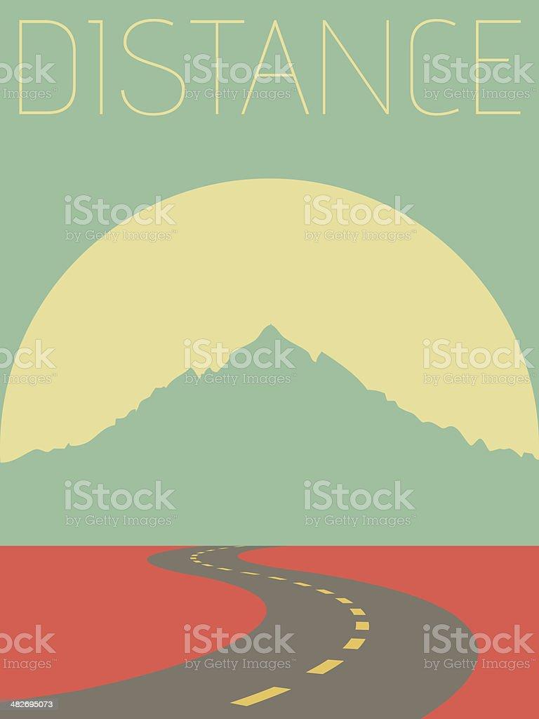Vector Minimal Design - Distance royalty-free stock vector art