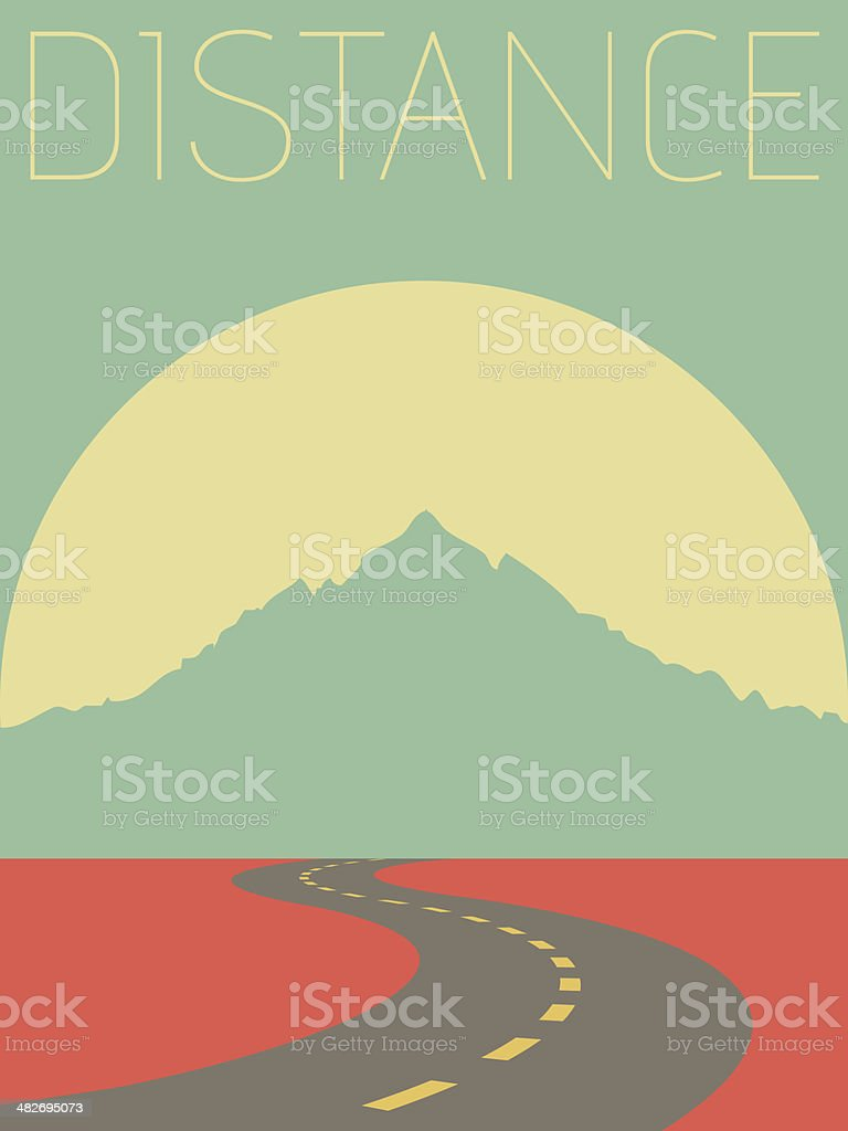 Vector Minimal Design - Distance vector art illustration
