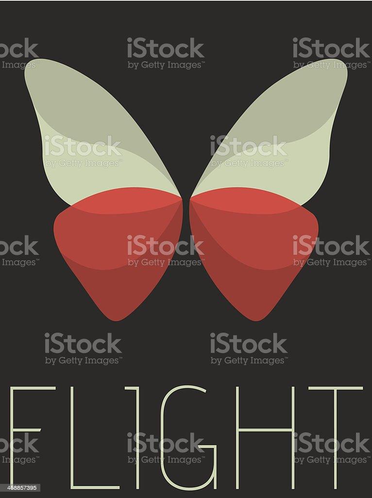 Vector Minimal Design - Flight vector art illustration