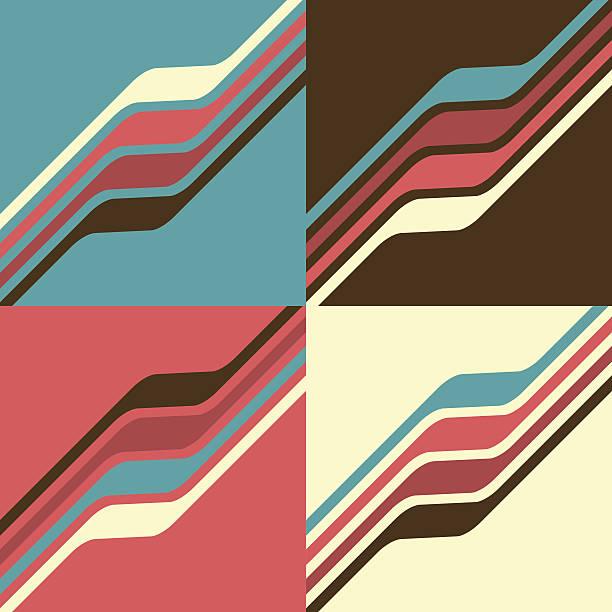 stockillustraties, clipart, cartoons en iconen met vector minimal design - waves - seventies