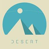 Vector Minimal Poster: Desert