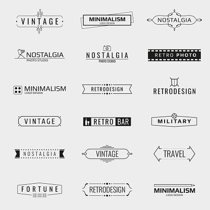 Vector minimal vintage logo templates