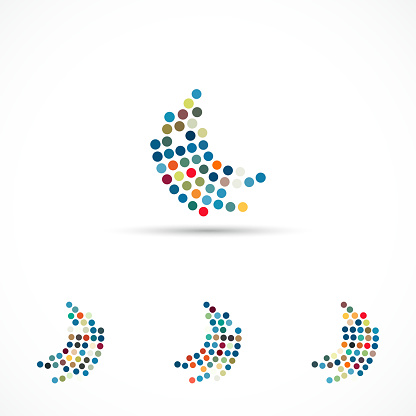 Vector Minimalism Half Tone Dots Pattern Icon collection