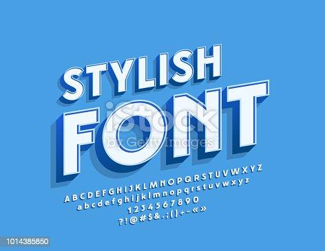 Vector stylish Font