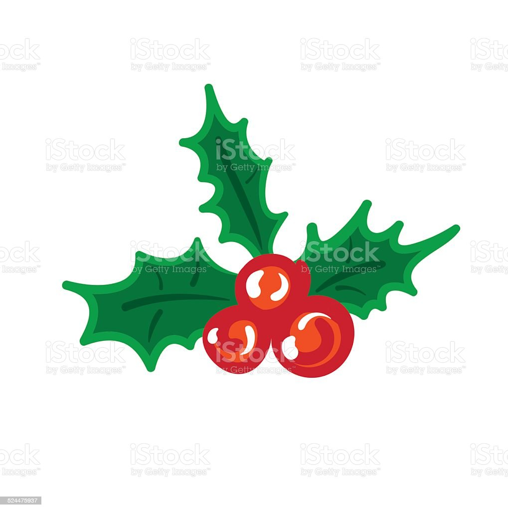 vector mistletoe vector art illustration
