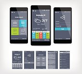 Vector mobile app ui set of modern design.
