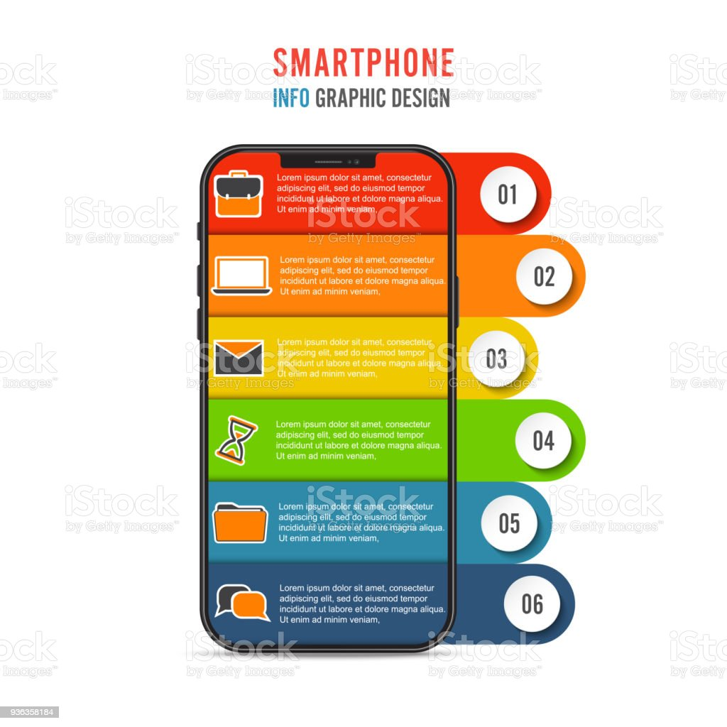 Vector Mobile Phone For Infographic Template For Diagram Graph