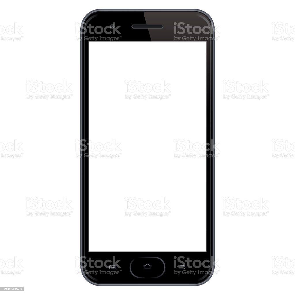 Vector Mobile Phone Template Stock Vector Art & More Images of Black ...