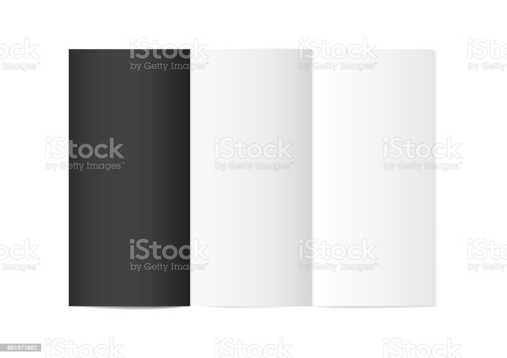 vector mock up booklet with 3 page with one black page brochure or