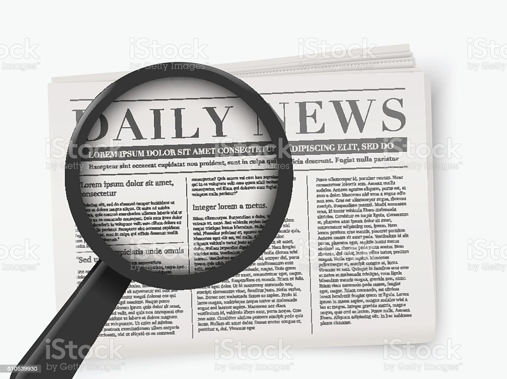 Vector mock up of a blank daily newspaper. vector art illustration