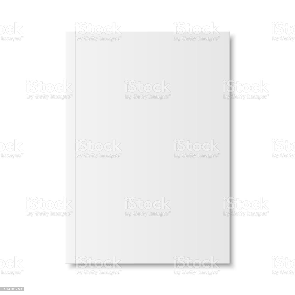 Vector mock up of book or magazine vector art illustration