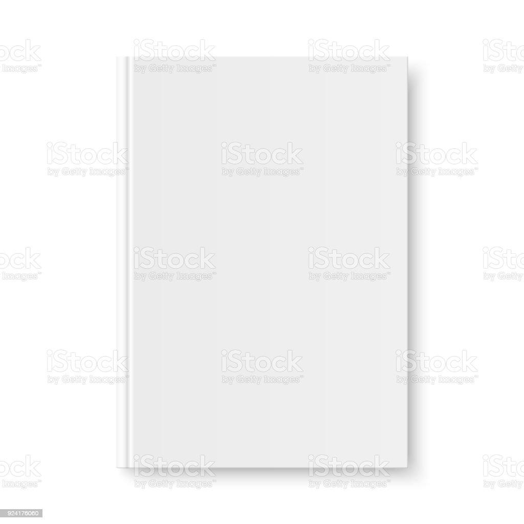 ベクトル本白いブランク カバーのモックアップ ベクターアートイラスト