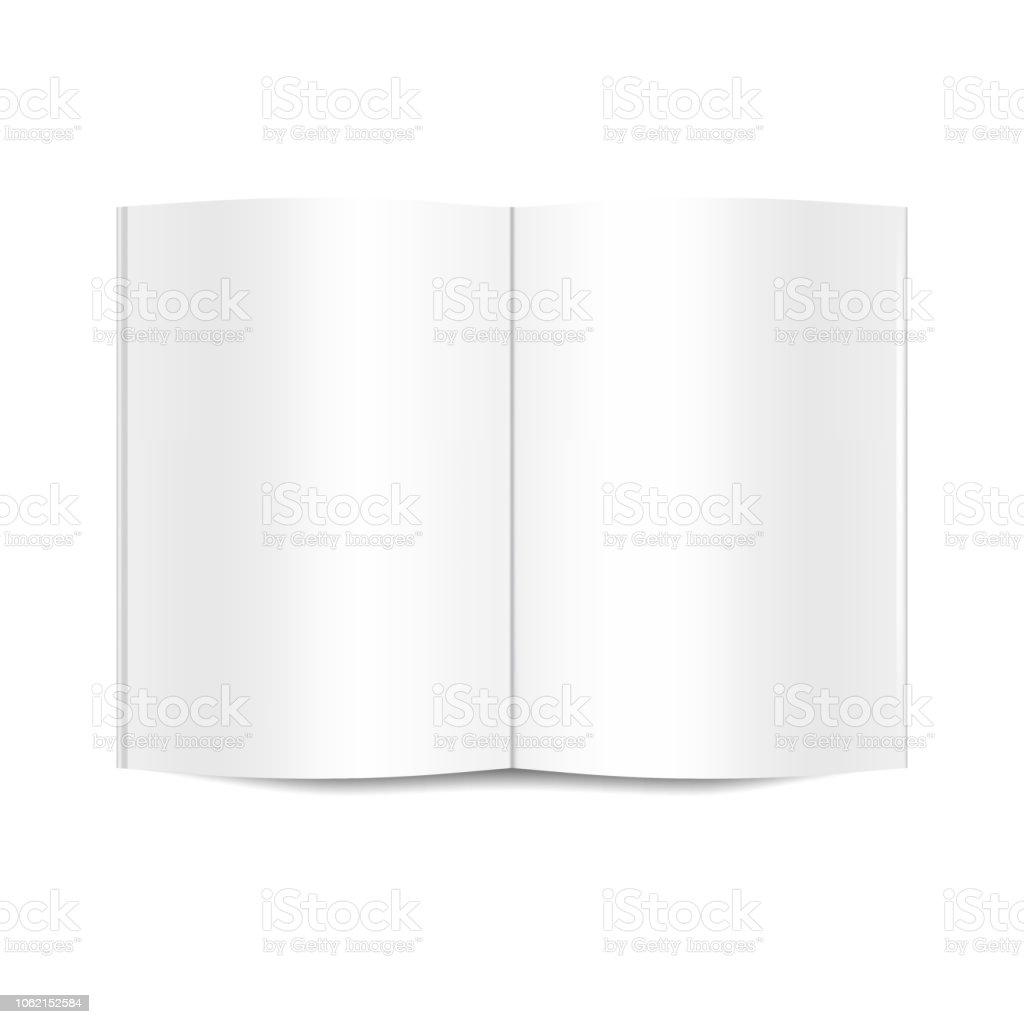 Vector Mock Up Du Livre Blanc Blanc Ouvert Vecteurs Libres
