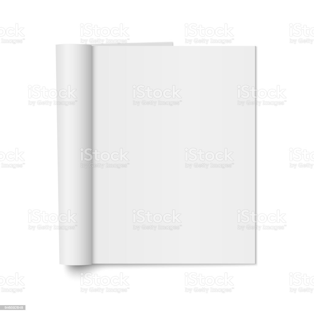 Vector mock up of realistic magazine