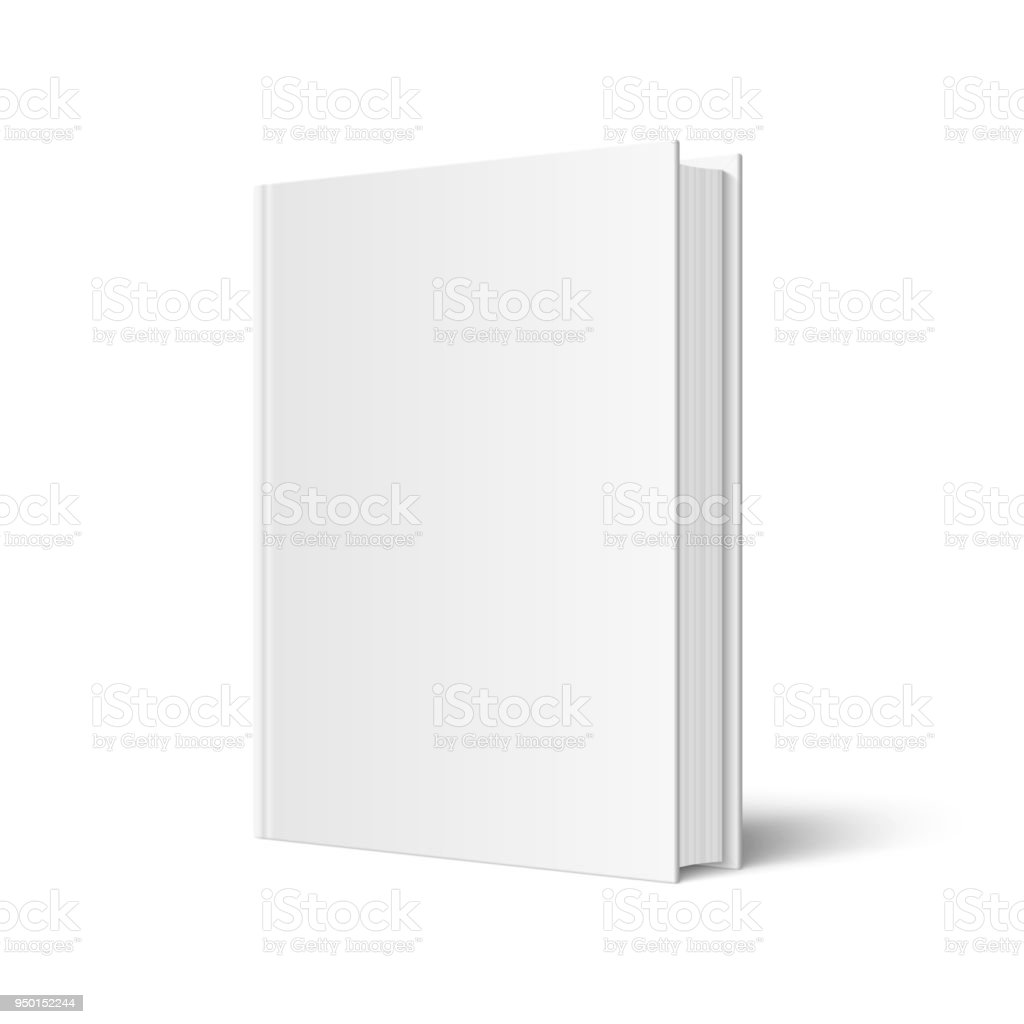 Vector mock up of standing book