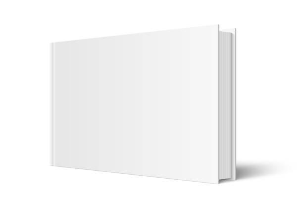 ilustrações de stock, clip art, desenhos animados e ícones de vector mock up of standing book - horizontal