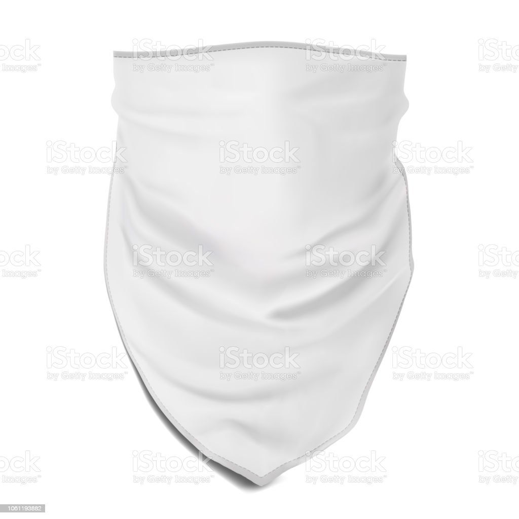 Download Vector Mock Up White Bandana For Head Stock Illustration Download Image Now Istock