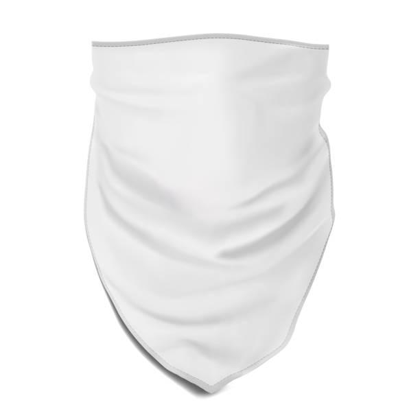 Vektor. Mock-Up. Weiß Bandana (Buff) für Kopf – Vektorgrafik