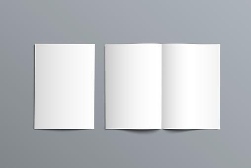 Vector mockup bi-fold catalog for the presentation of the design.