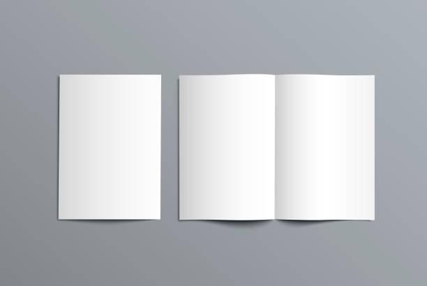 wektor makiety dwukrotny katalog prezentacji projektu. - broszura stock illustrations
