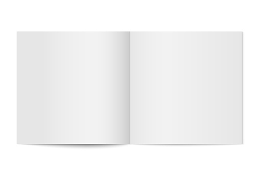 Vector mockup of booklet cover isolated.