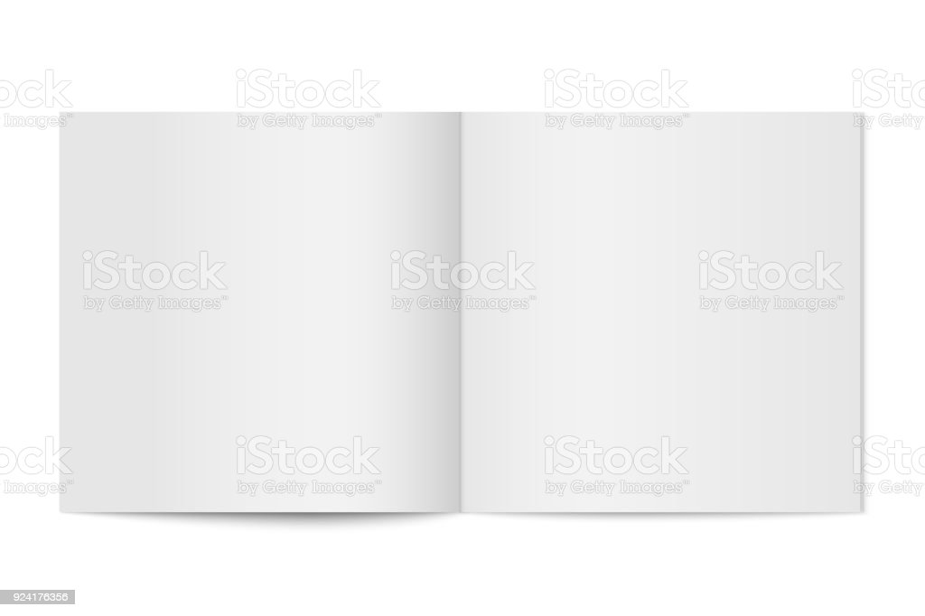 Vector mockup of booklet cover isolated. vector art illustration