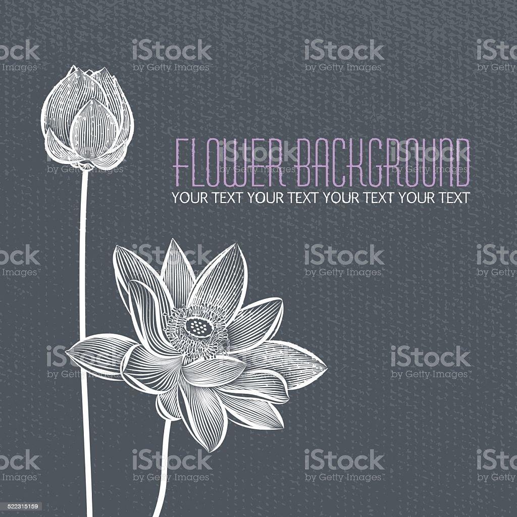 Vector: Modern abstract flower blue-gray background vector art illustration