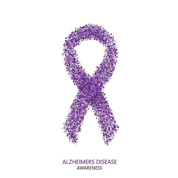 ilustrações de stock, clip art, desenhos animados e ícones de vetor moderno alzheimers doença consciência círculos desigen - alzheimer