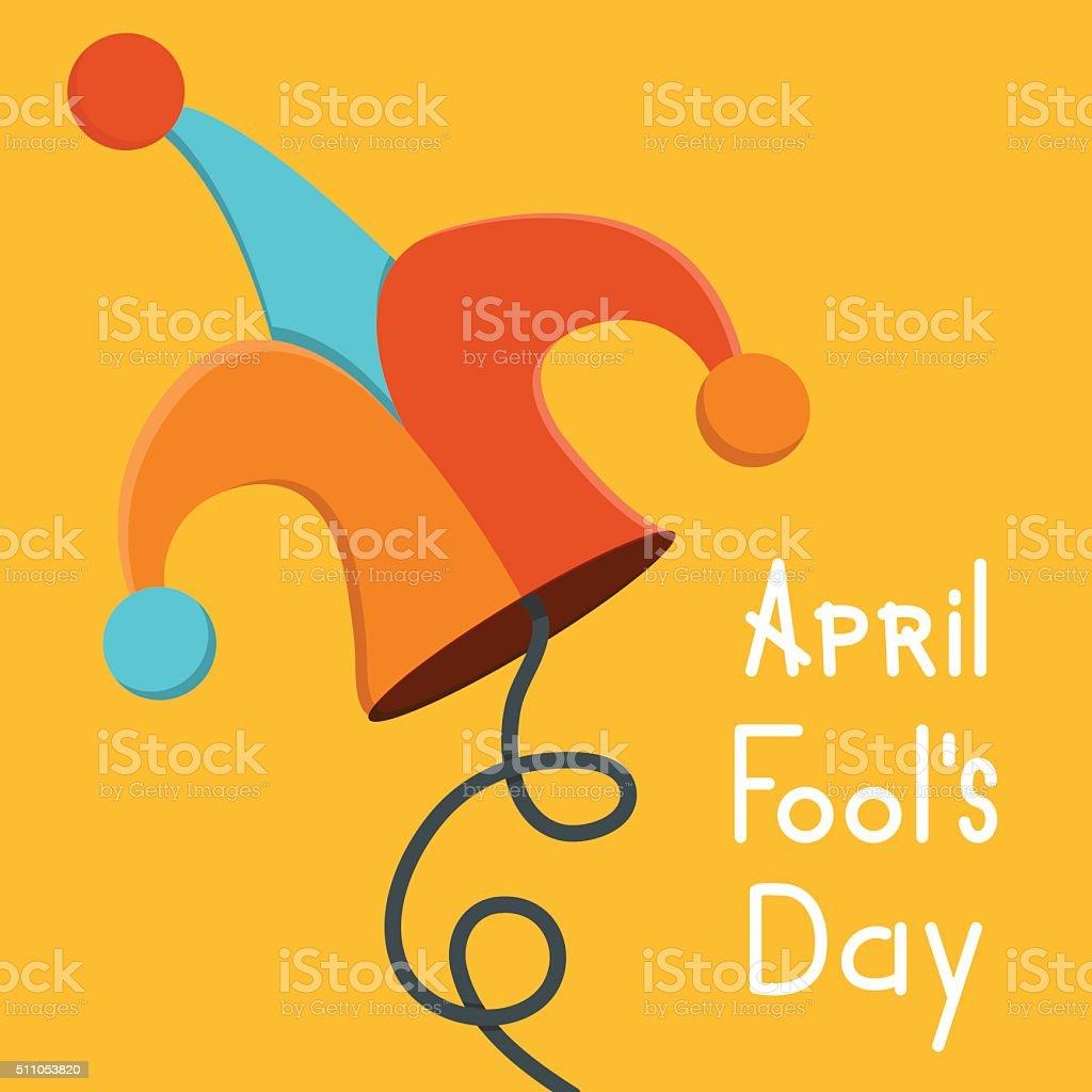 Vector modern april fools day vector art illustration
