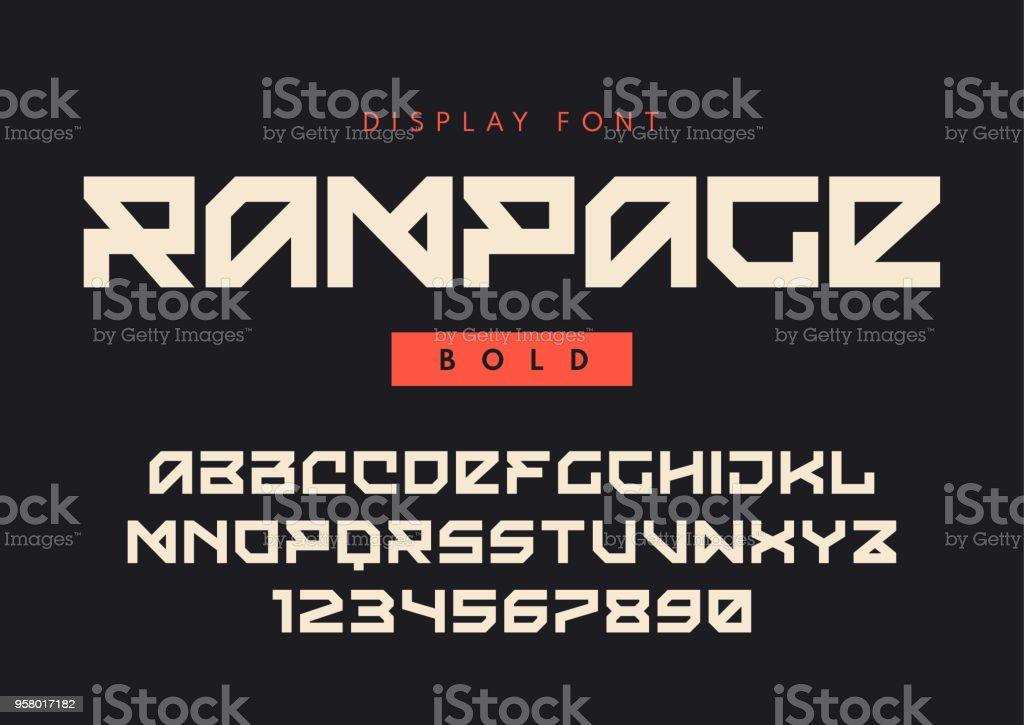 c3d3aa58b Vetor de Vector Moderna Bold Exibir Fonte Chamado Rampage Tipo De ...