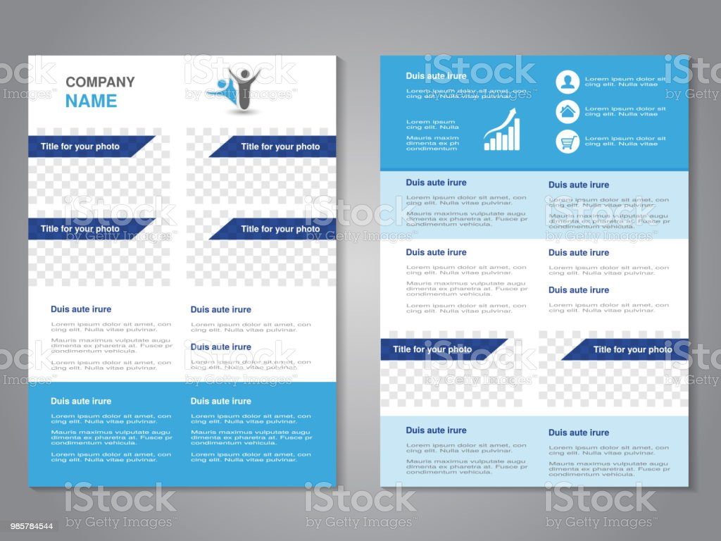 vector modern brochure abstract flyer simple design with blank
