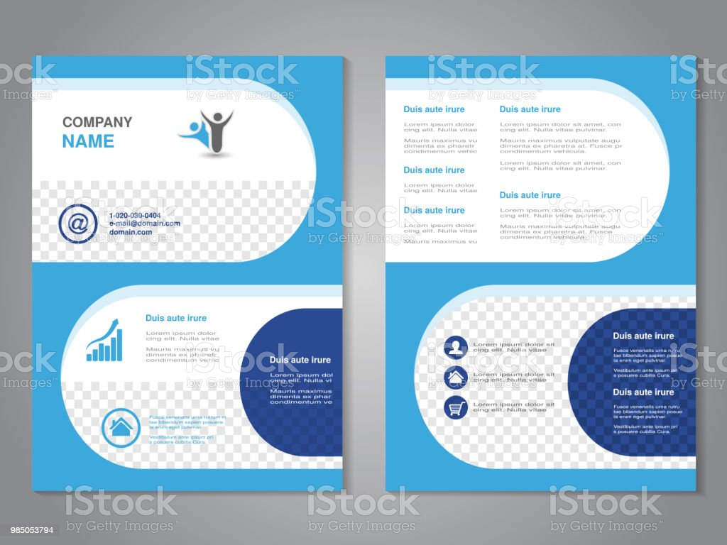vector modern brochure abstract flyer simple design with rounded