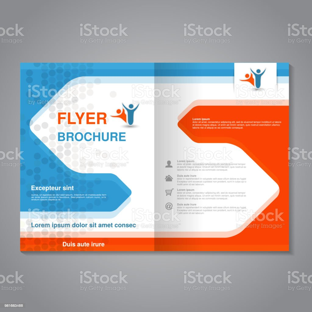 vector modern brochure abstract flyer with simple dotted design layout template with arrows