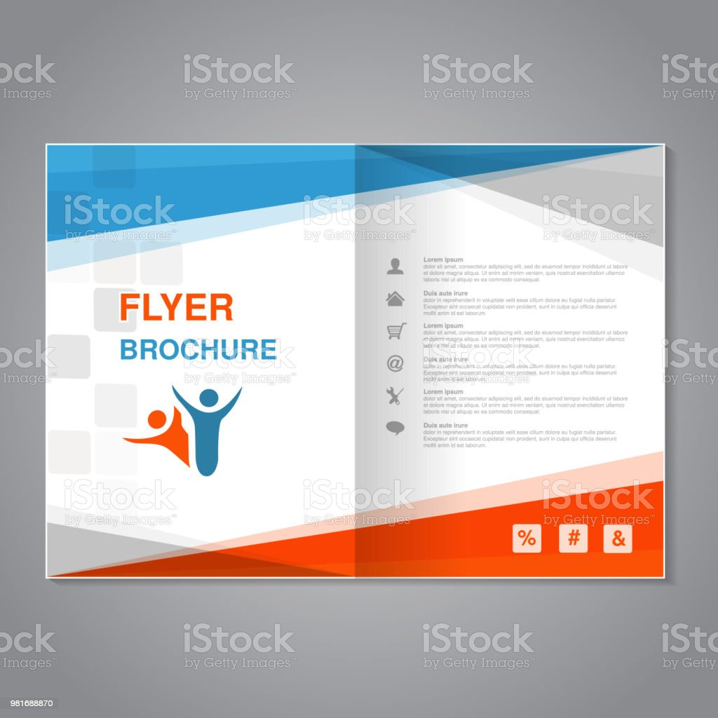 vector modern brochure abstract flyer with simple squared design