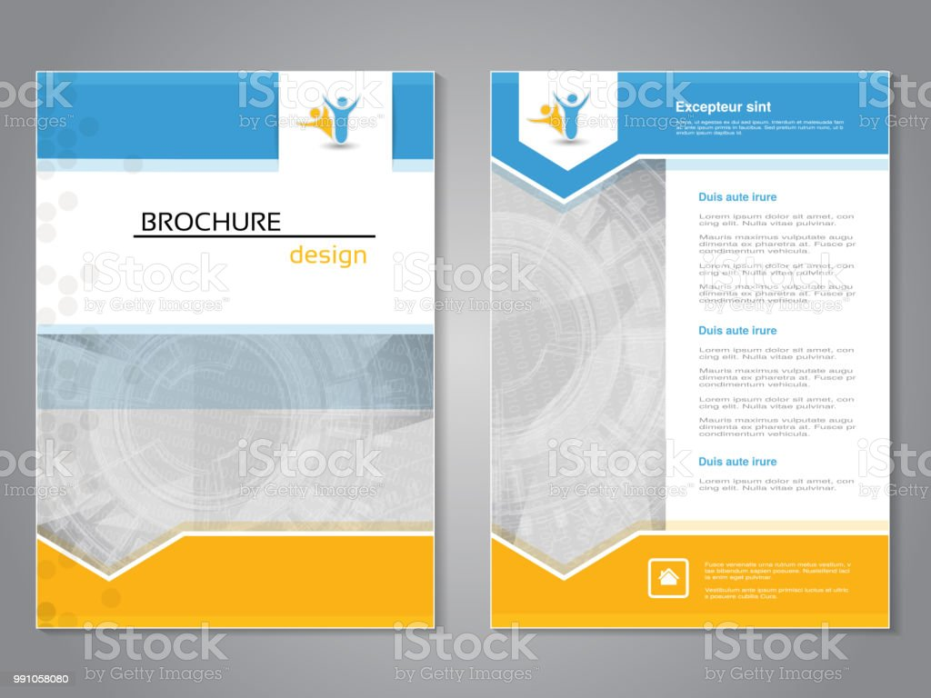 Vector Modern Brochure Abstract Flyer With Technology Background