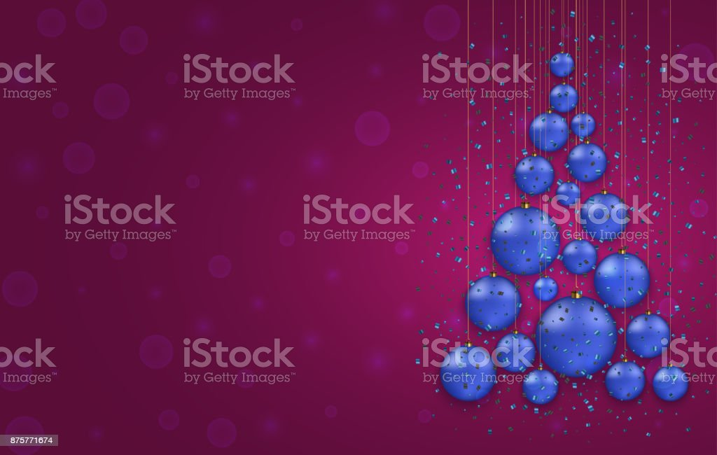 Vector modern Christmas or 2018 Happy New Year winter holiday invitation card vector art illustration