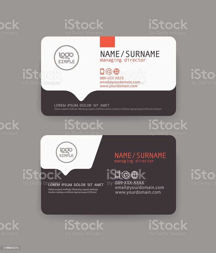 Vector modern clean business card template flat design stock vector modern clean business card template flat design royalty free stock vector art magicingreecefo Gallery