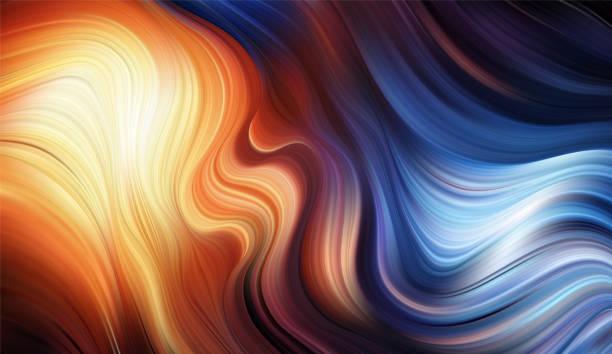 illustrazioni stock, clip art, cartoni animati e icone di tendenza di vector modern colorful flow background. wave color liquid shape. abstract design. - ice on fire