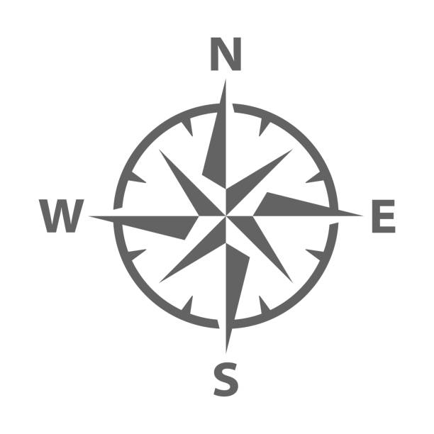 vektör modern pusula gül - compass stock illustrations