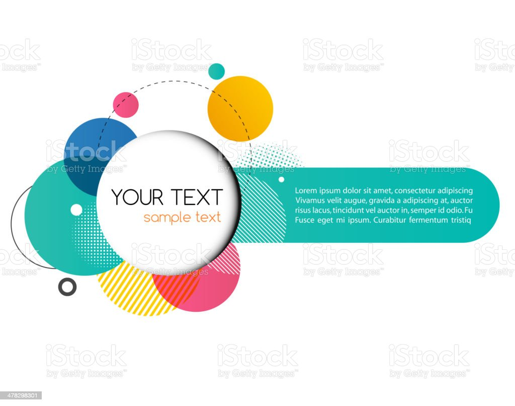 Vector Modern Design Circle template royalty-free stock vector art