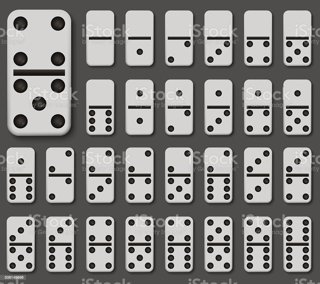 Vector modern domino set on gray background