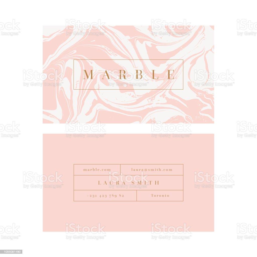 Vector modern feminine business card template - Grafika wektorowa royalty-free (Abstrakcja)