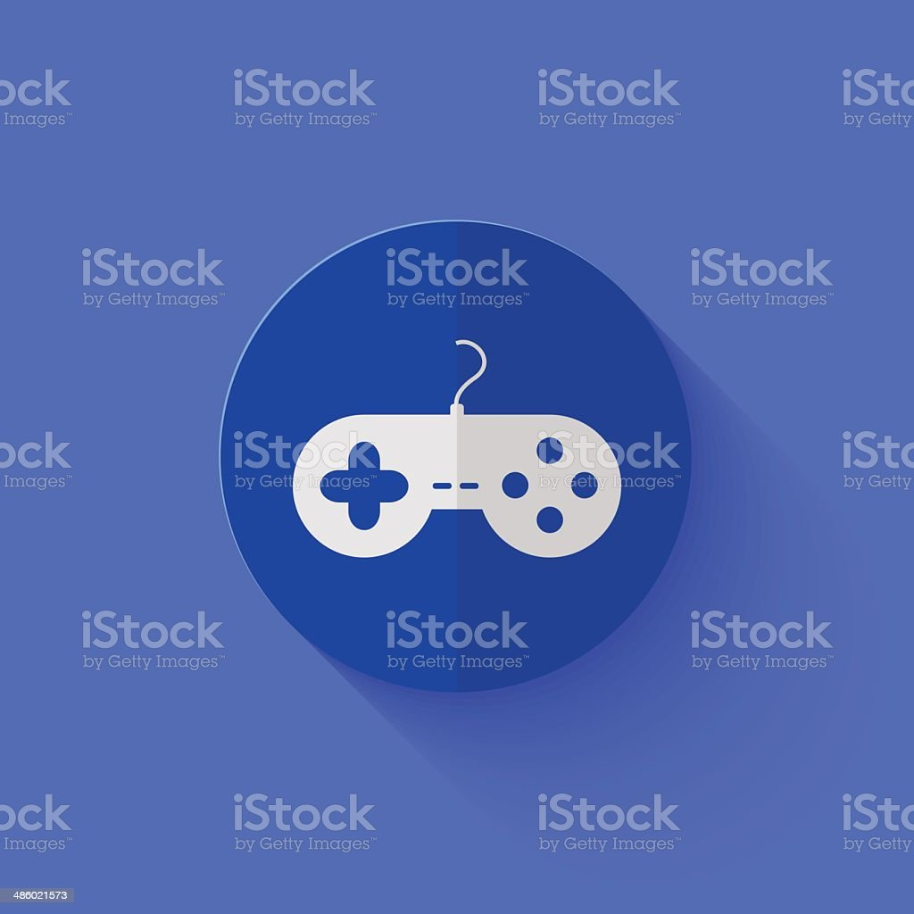 Vector modern flat blue circle icon. royalty-free vector modern flat blue circle icon stock vector art & more images of computer