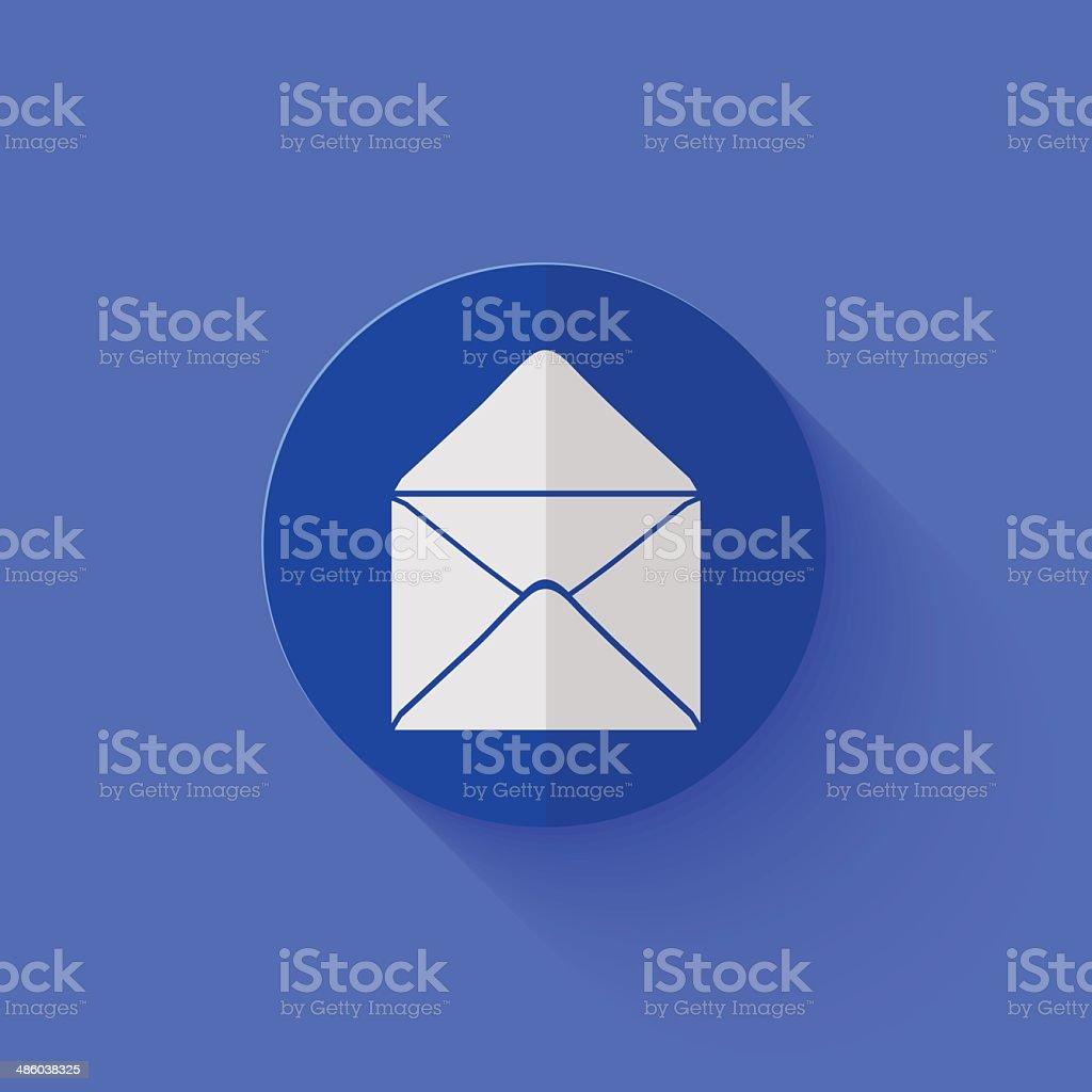 Vector modern flat blue circle icon. royalty-free stock vector art