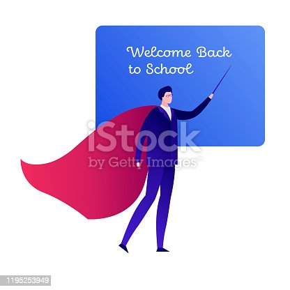 Teacher young black woman standing with open book at the blackboard in  classroom. School class interior. Traditional education concept. Vector  cartoon Stock Vector Image & Art - Alamy