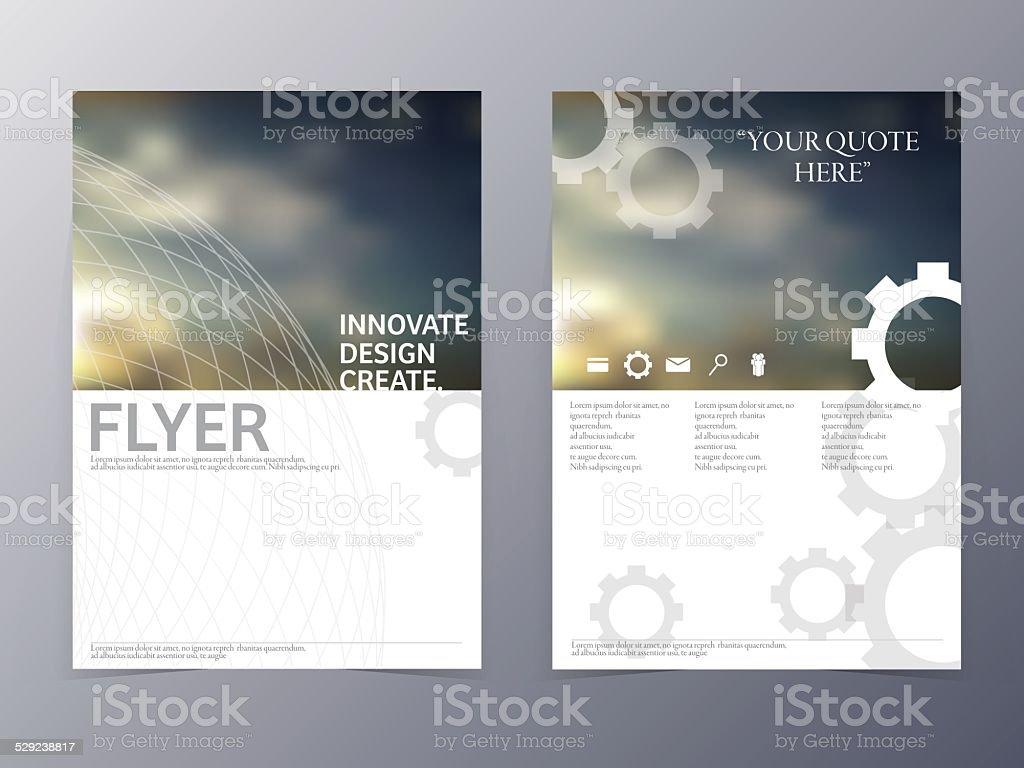 vector modern flyer design template vector art illustration