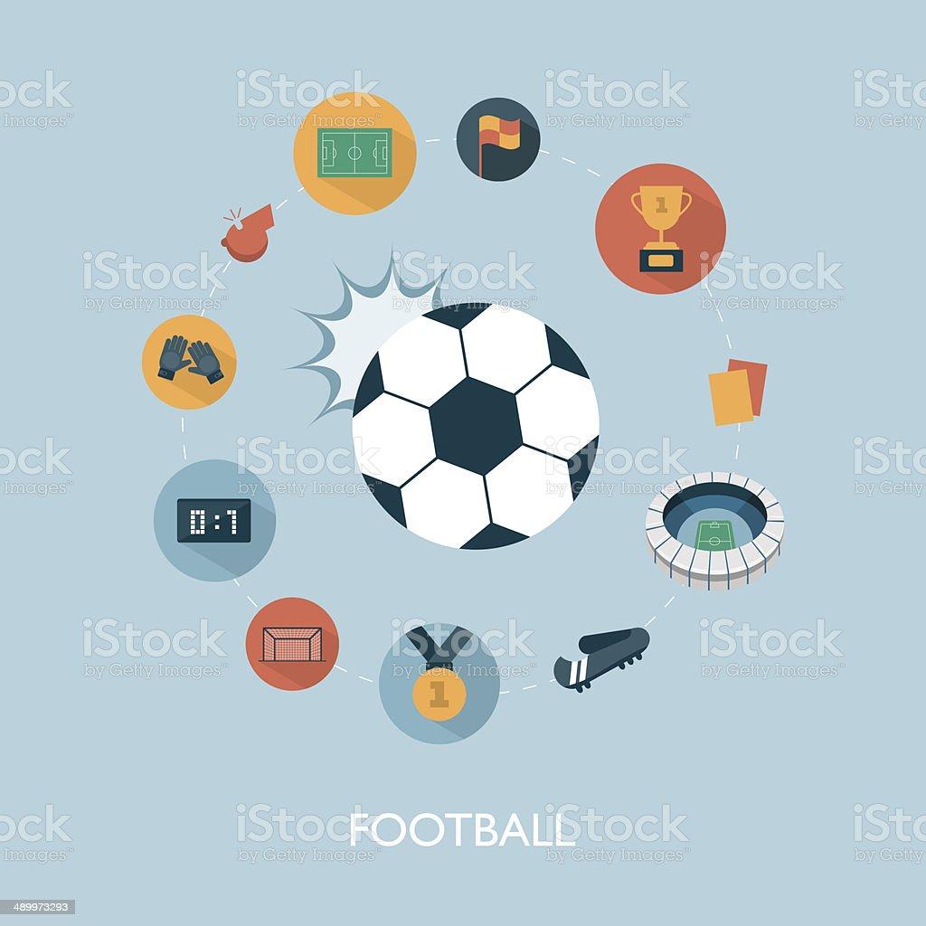 vector modern football concept illustration vector art illustration