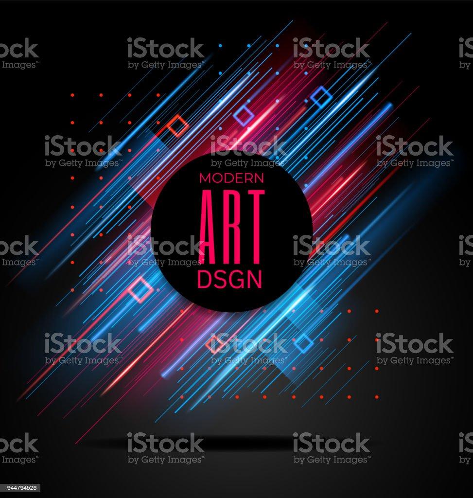 Vector modern frame with geometric neon glowing lines isolated on vector modern frame with geometric neon glowing lines isolated on black background art graphics with buycottarizona Choice Image