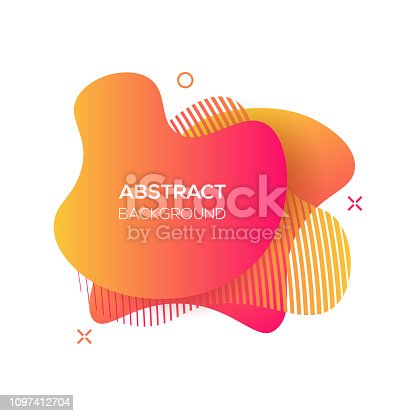 Vector modern futuristic cover element. Abstract dynamic geometric shapes, isolated on white. Trendy minimal colorful website and branding design. Cool poster background.