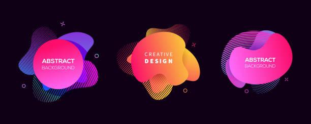 illustrazioni stock, clip art, cartoni animati e icone di tendenza di vector moderno futuristico cover elements set - titolo mondiale